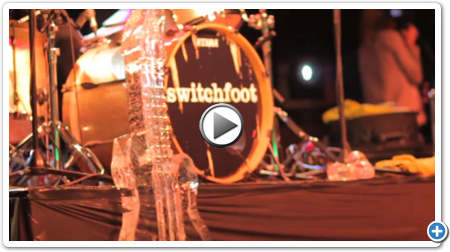 ICE BULB Performs LIVE Carving Show & Opens for Grammy Award Winning SWITCHFOOT!